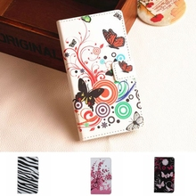 Butterfly Pattern Huawei Y360 Wallet Leather Phone Case For Huawei Ascend Y3C Y336 Y3 Fundas Back Cover Stand Bag Card Holder