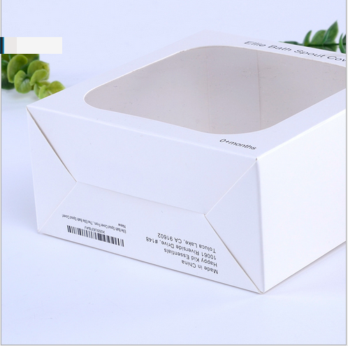 custom printed cardboard box with clear PVC plastic window packaging boxes