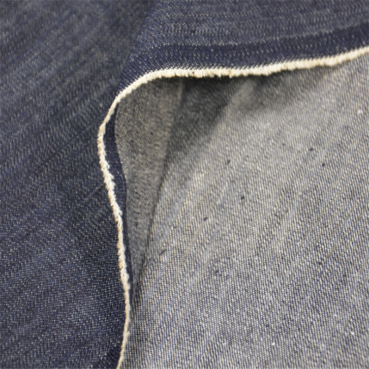 raw material 100% cotton stock woven slub denim fabric for jeans garment clothes