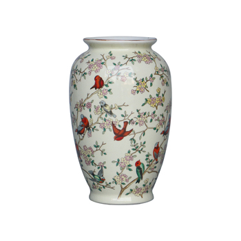Exquisite Chinese Flower Design Decorative Contemporary Ceramic