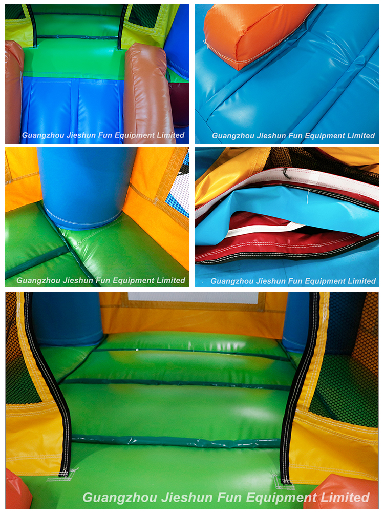 Factory 2.8 x 2.1m High Quality PVC Inflatable Bounce House Castle Small Bouncy Balloon Castle Slide Combo For Sale