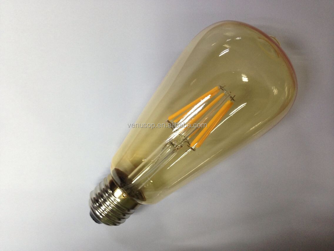 Smoky Glass St64 6w Led Filament Bulb E27 Led Dimmable Light Bulb ...
