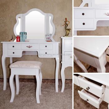 Cheap Price Modern Bedroom Furniture Tri-fold Mirror 5 Drawers Makeup  Vanity - Buy Makeup Vainty,5 Drawers Makeup Vanity,Mirror Makeup Vanity  Product ...