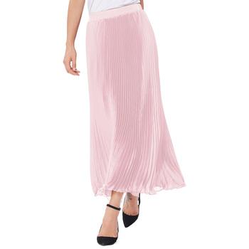 Kate Kasin Womens Retro Vintage Light Pink Summer Pleated Maxi Long