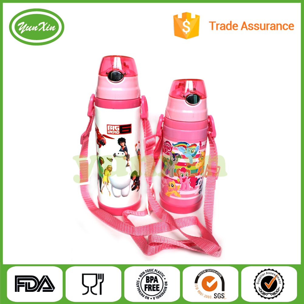 High quality wholesales vacumm thermos / stainless steel baby bottle with silicone straw