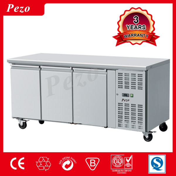 TOP Commercial counter chiller 600MM with 3 doors