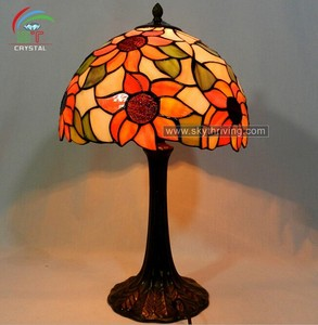 modern red tiffany flower lamp