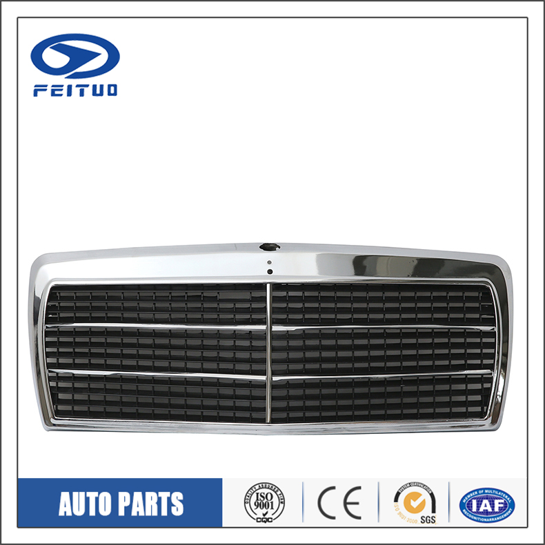 PLASTIC material Body parts chromed car front grilles for Benz 190E 1982-1993 201-8800783