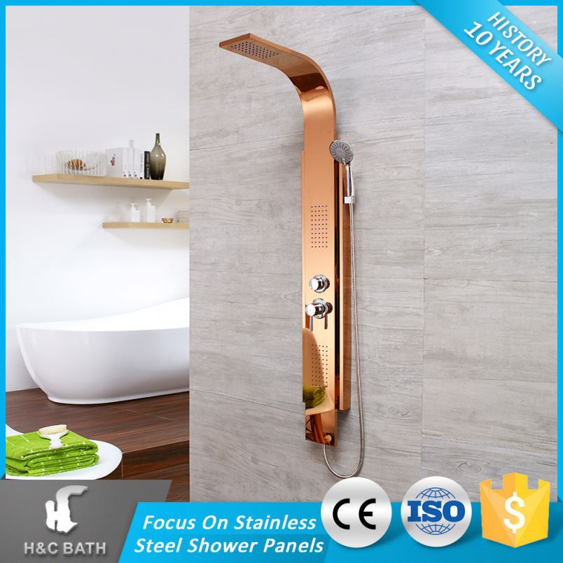 Super Quality Comfortable Chrome Surface Shower Culumn In Bath