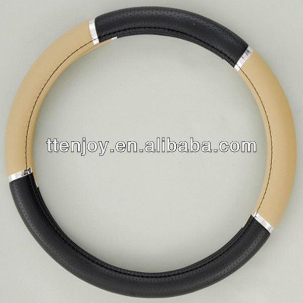 Fashionable Leather Car Steering Wheel Cover, 4-Spoke Wheel