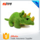 Green Cute Triceratops Dinosaur Three Horn Plush Doll Toy
