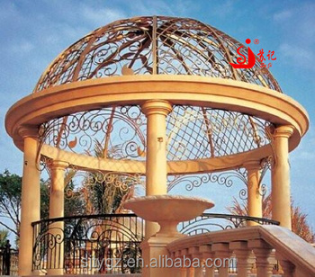 Garden Ornamental Wrought Iron Dome Iron Awning Canopies Design