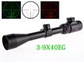 Free shipping 3 9X40EG Hunting Scope Riflescope Red Green Illuminated military Optic sight sniper Deer Riflescope