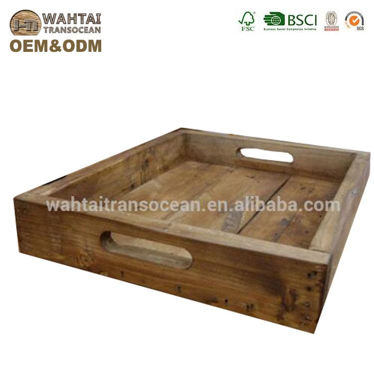 деревенский сервировочный поднос винтажный деревянный поднос поддон деревянный поднос для завтрака антикварные деревянные сервировочные лотки Buy
