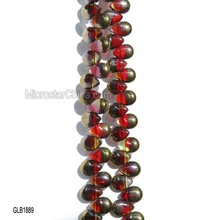 8*11mm Hot sale high quality cheap mix color teardrop glass beads