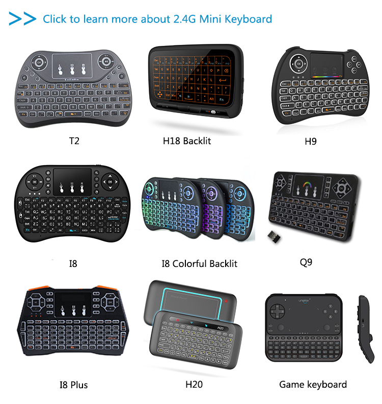 Promotional T10 2.4G Wireless usb slim touchpad keyboard