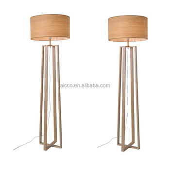 Modern Led Floor Lamp For Hotel Wooden Stand