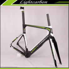 LightCarbon 700C Racefiets Frame Chinese fabriek <span class=keywords><strong>AERO</strong></span> & STERKE frame <span class=keywords><strong>kit</strong></span> LCR009-V groothandelsprijs