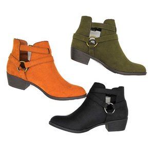 Factory price women lady low heel ankle boots lady boots