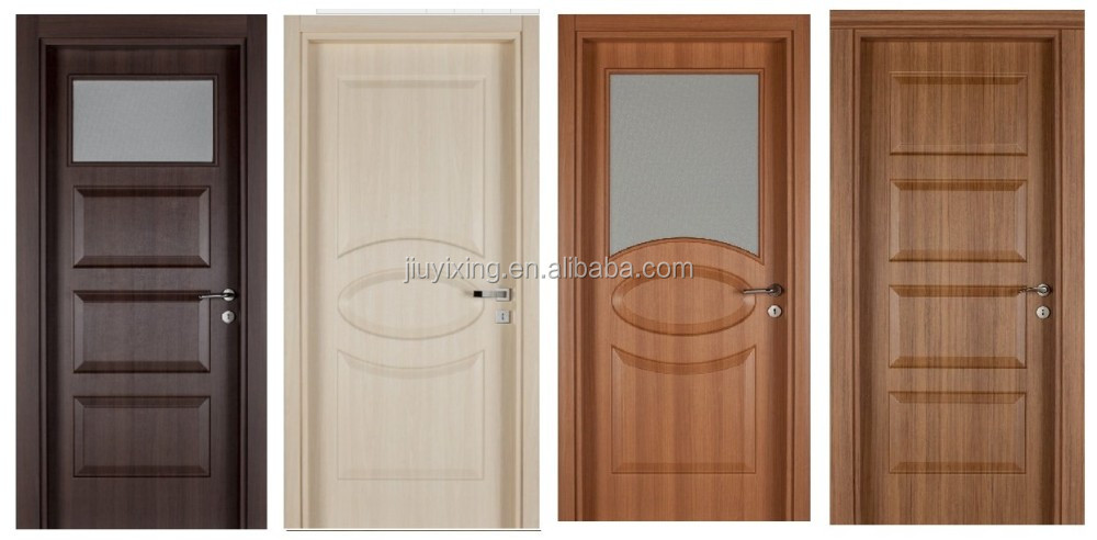 China supplier moulded design no painting imported pvc wooden doors skin/panel with glass window & China Supplier Moulded Design No Painting Imported Pvc Wooden ... Pezcame.Com