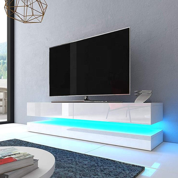Flow 140cm Led Floating 2 Drawer Tv Cabinet Unit Black White Grey Wood Stand Product On Alibaba