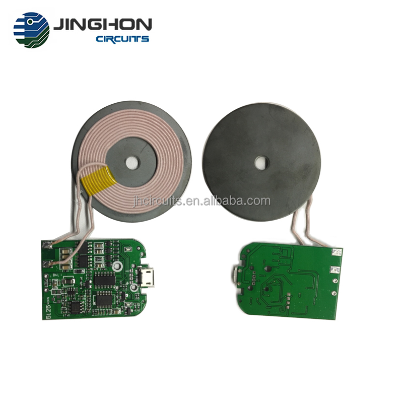 Wireless car charger PCB e presa standard QI Caricabatterie Wireless PCBA