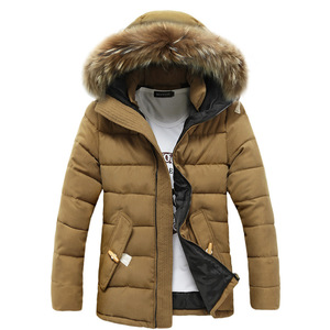 Men's Woodland Down Jackets Clothing Garments With Real Fur Hood