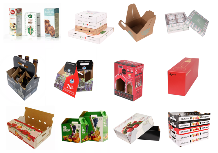 Full color printing corrugated carton pizza paper box with custom logo