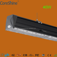 40W 4ft led track rail light mounting led linear trunking lamp fixture 7 years warranty