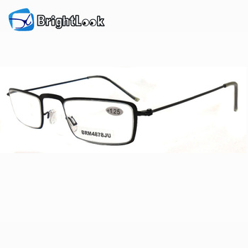 c6767f36736d Mini clear lens small frame metal ultra slim reading glasses