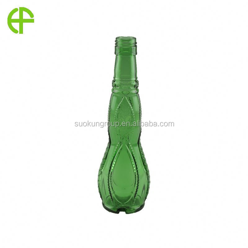 Empty style miniature olive oil glass bottle from china