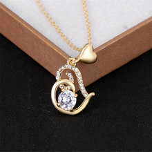 Valentine's Day Gift of Love Rose Gold Color Stellux Crystals Heart Pendant Necklace