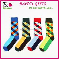 Custom Mens Colorful Dress Socks