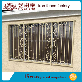 2016 simple wrought iron window grills designs steel for Steel window design 2016