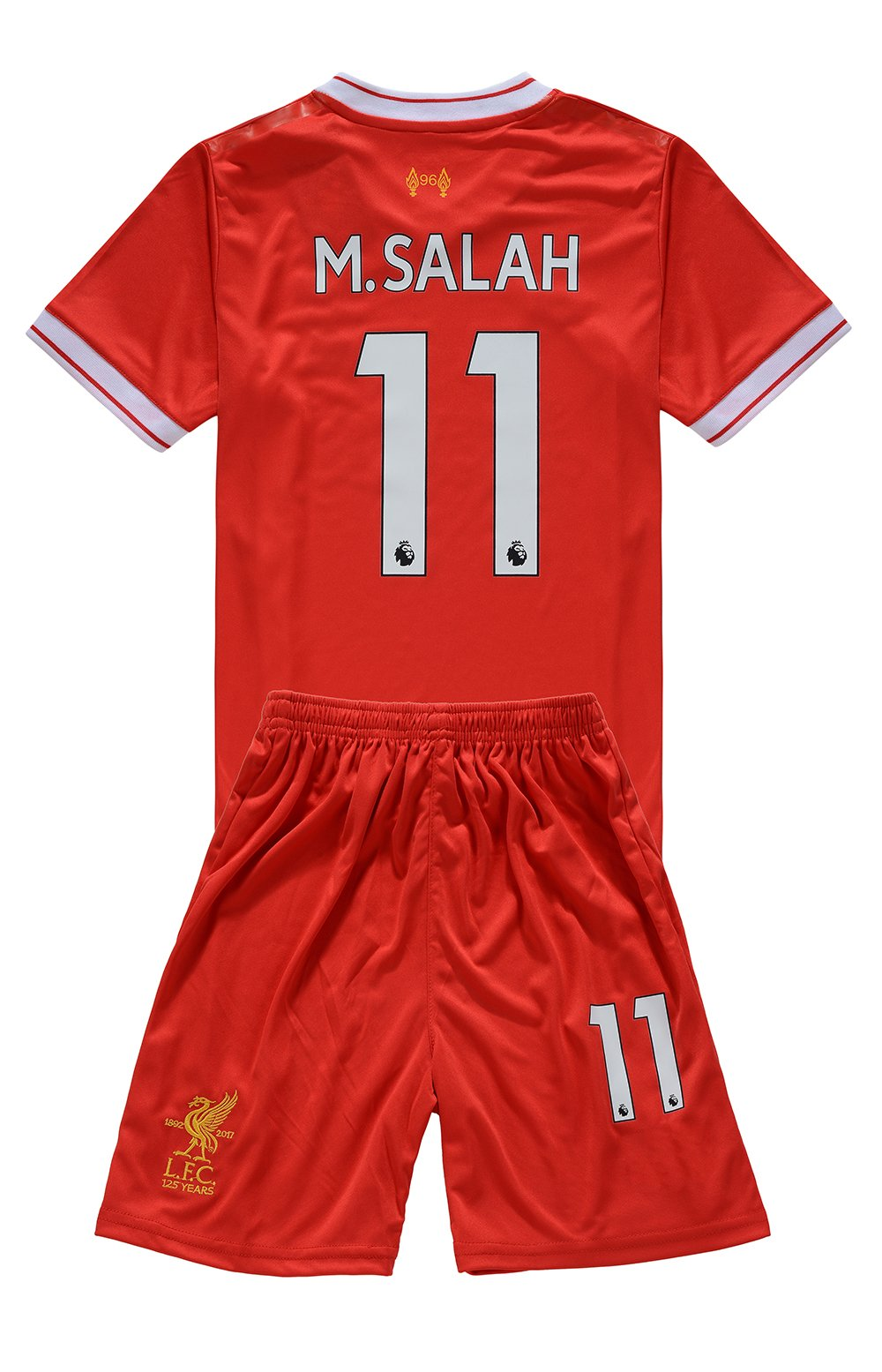 MensHotyo 2017/2018 Liverpool Mohamed Salah 11 Kids/Youths Home Soccer Jersey Shorts