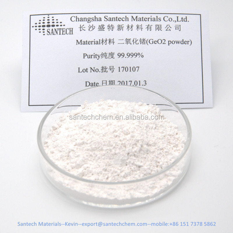High pure 99.999% white nano powder, Geo2 germanium oxide Germanium dioxide