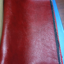 knitted backing technics pu pvc faux leather supplier for upholstery sofa