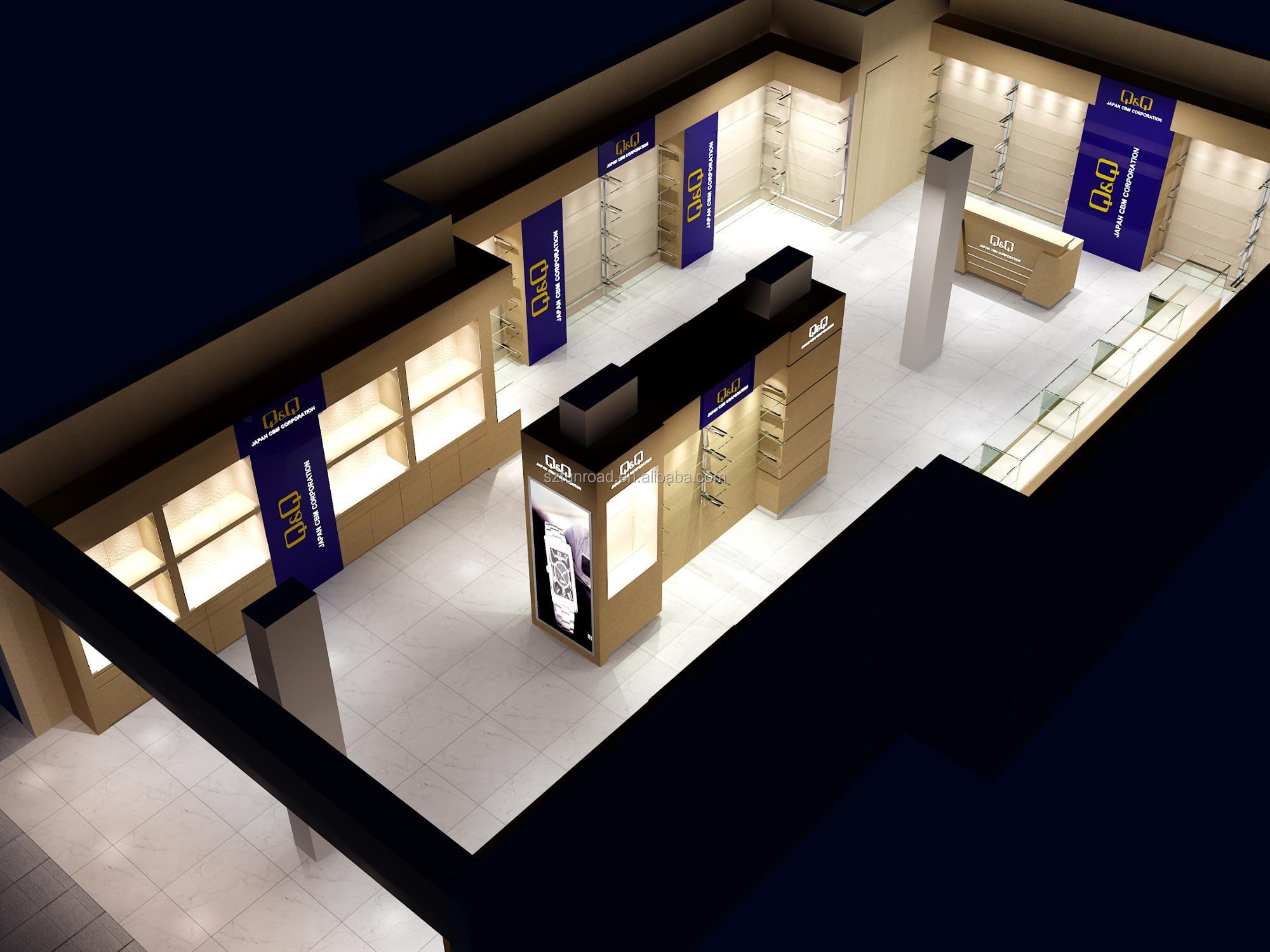 Modern Boutique Watch Store Display Furniture Showroom Interior Design