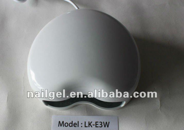 3W Led Light! 2012 New Arrival 3W Nail Gel Polish UV LED Lamp!!!