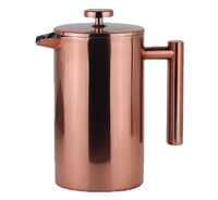 High Quality Double Wall Insulated Stainless Steel French Coffee Press with Handle