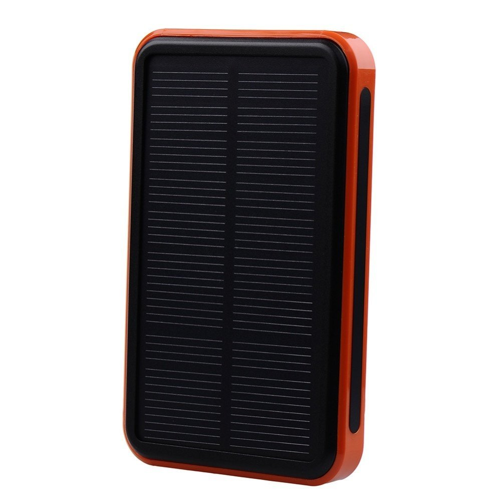 Vipwind Solar Power Bank 20000mAh Solar Charger Waterproof Portable Solar Power Bank Dual USB Solar Charger for Cell Phone Power Bank - Orange