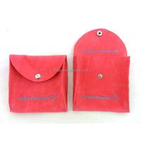 custom logo velvet flap black pouches printing small jewelry bags