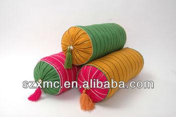 traditional handmade backrest dedign digital print cushion tube round pillow cover
