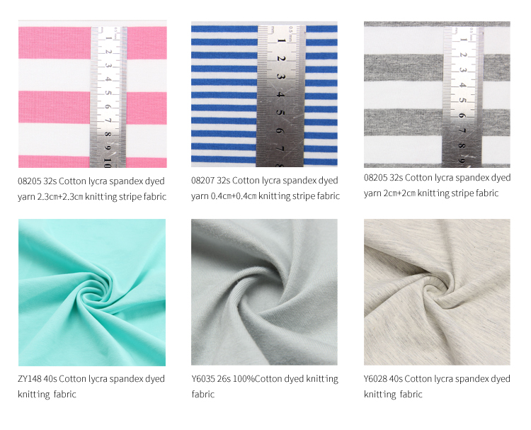 Y6035 100% Cotton 26s plain dyed single  jersey knit fabric  stocklot for pajama men sport  t shirt  women dress cloth