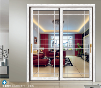 Soundproof White Aluminum Interior Sliding Double Glass Doors With Ce Certificate Buy Interior