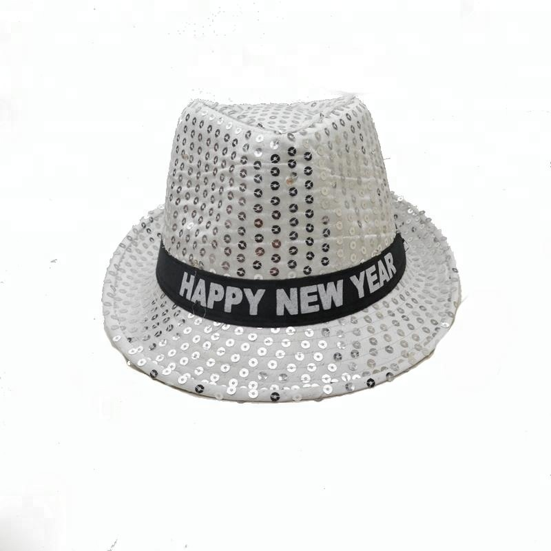Hip hop hat happy new year led hat adults flashing sequins party led hat 05ce41752757