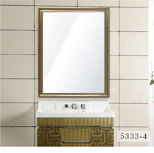 Hot selling gold color framed silver mirror customize mirror