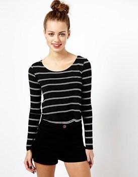 Long Sleeve Black White Stripe T Shirt - Buy Long Sleeve Black ...