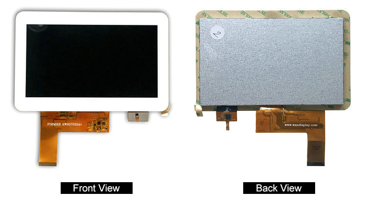 800x480 Tft Lcd Display 7 Inch 50 Pin With 24bit Rgb Interface