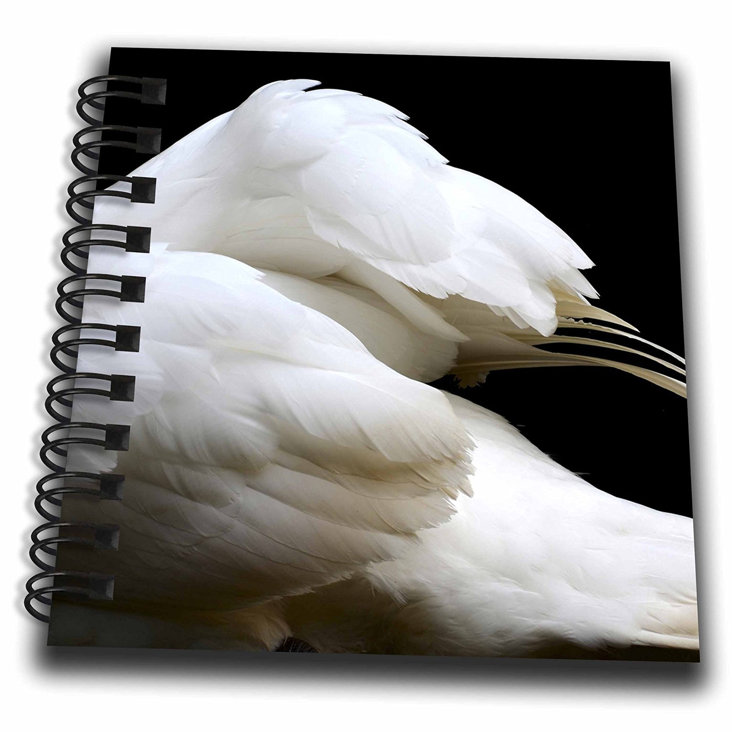 Susans Zoo Crew Animals - swan clipped wings invert - Mini Notepad 4 x 4 inch (db_178603_3)